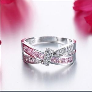 Pink Topaz November Birthstone Ring